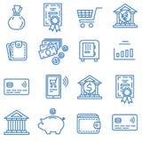 Financie los iconos stock de ilustración