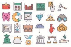 Financie los iconos ilustración del vector