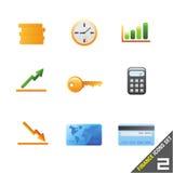 financie o ícone ajustam 2 Imagem de Stock