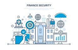 Financie seguro, seguridad del pago, protección, depósitos en efectivo, análisis de las finanzas Fotos de archivo