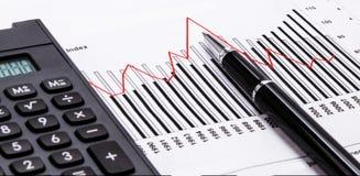 Financieel analyseconcept Royalty-vrije Stock Foto's