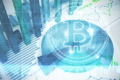 Financieel bitcoinbehang Royalty-vrije Stock Fotografie