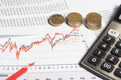 Financieel of boekhoudingsconcept Royalty-vrije Stock Afbeelding