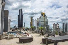 Financieel centrum van de Stad van Panama, Panama stock afbeeldingen
