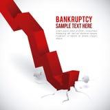 Financieel crisisontwerp Stock Afbeelding