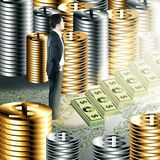 Financieel de groeiconcept Royalty-vrije Stock Foto