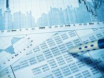 Financieel diagram stock afbeeldingen