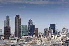Financieel District en Van de binnenstad, Londen, het UK Royalty-vrije Stock Fotografie