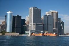 Financieel district, New York stad Royalty-vrije Stock Afbeelding