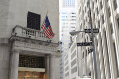 Financieel district, New York stad Royalty-vrije Stock Foto