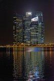 Financieel District, Singapore Stock Foto's