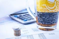 Financieel document stock fotografie