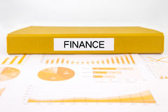 Financieel documenten, grafieken, boekhouding en controleverslag voor knop Stock Fotografie