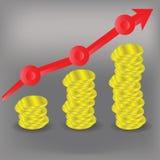 Financieel grafiekdiagram Stock Afbeeldingen