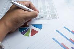 Financieel grafiekdiagram voor het werkzaken en economisch Royalty-vrije Stock Foto's