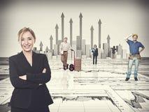 Financieel grafiekgrafiek en team Stock Foto's