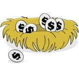 Financieel nest royalty-vrije illustratie