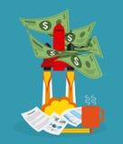 Financieel opstarten Royalty-vrije Stock Afbeelding