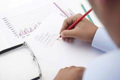 Financieel plan voor succes Stock Foto