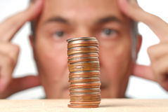 Financieel Probleem Royalty-vrije Stock Foto's