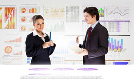Financieel rapport royalty-vrije stock foto's