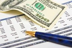 Financieel rapport Stock Afbeelding