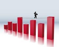Financieel risico stock illustratie