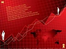 Financieel rood als achtergrond Stock Foto's