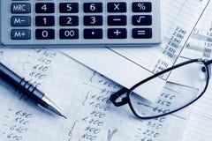 Financieel saldo. Stock Foto's