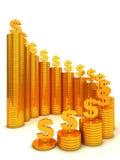 Financieel succesconcept vector illustratie