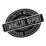 Financieel verslag rubberzegel royalty-vrije illustratie