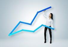 Financieel verslag & statistieken. Bedrijfssuccesconcept. royalty-vrije stock afbeeldingen