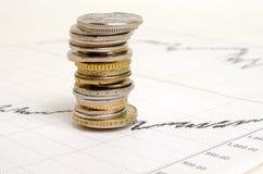 Financier-indicateurs Images stock