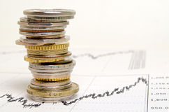 Financier-indicateurs Photo stock