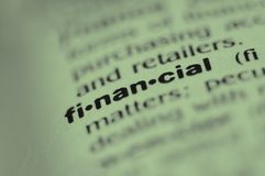 Financiero Imágenes de archivo libres de regalías
