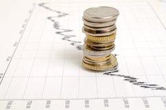 Financiero-indicadores Imagen de archivo libre de regalías