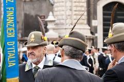 Financiers italiens pendant le jour de forces armées italien Photographie stock libre de droits