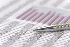 Financiial chart for stock market Stock Photos