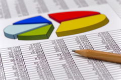 Financiial chart for stock market Royalty Free Stock Photography