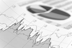 Financiial chart for stock market Royalty Free Stock Image