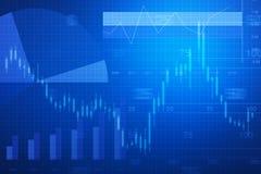 Financiële en bedrijfsgrafiek en grafieken Stock Afbeelding
