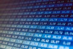 Financiële gegevensbeurs Stock Afbeelding
