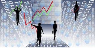 Financiële Grafieken Royalty-vrije Stock Foto