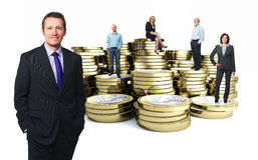 Financiële mensen Royalty-vrije Stock Foto's