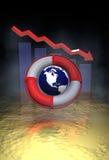 Financiële neerstorting Royalty-vrije Stock Afbeeldingen