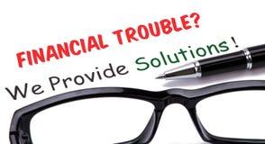 Financiële problemen? wij verstrekken oplossingen! Royalty-vrije Stock Foto's