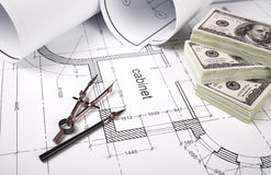 Financing of construction Royalty Free Stock Photo