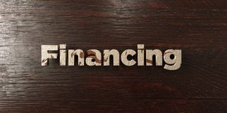 Financing - grungy wooden headline on Maple  - 3D rendered royalty free stock image. This image can be used for an online website banner ad or a print postcard Royalty Free Stock Photo