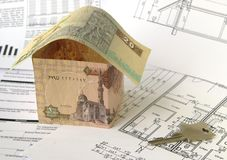 Financing of housebuilding Stock Photo