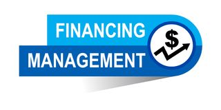 Financing management banner. Icon on isolated white background - vector illustration Royalty Free Stock Photography